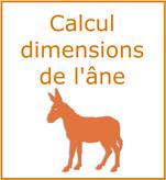 Logo Randoline calcul des dimensions de l'âne